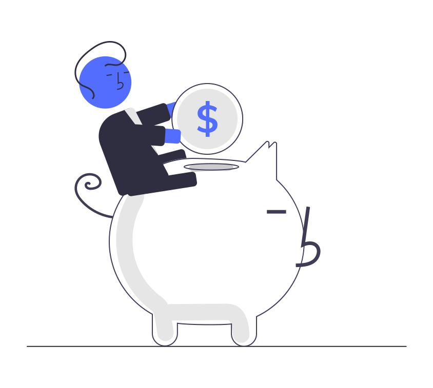 Undraw savings